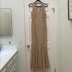 Champagne gold lace dress